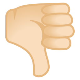 Thumbs down light skin tone icon