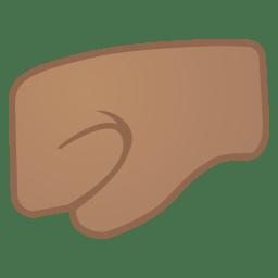 Left facing fist medium skin tone icon