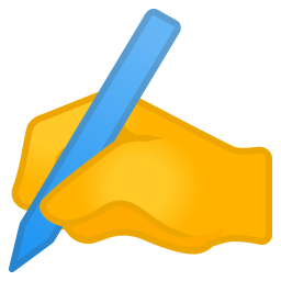Writing hand icon