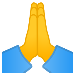 Folded hands icon