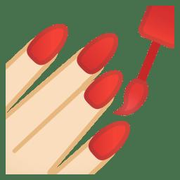 Nail polish light skin tone icon