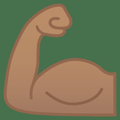 11906-flexed-biceps-medium-skin-tone icon