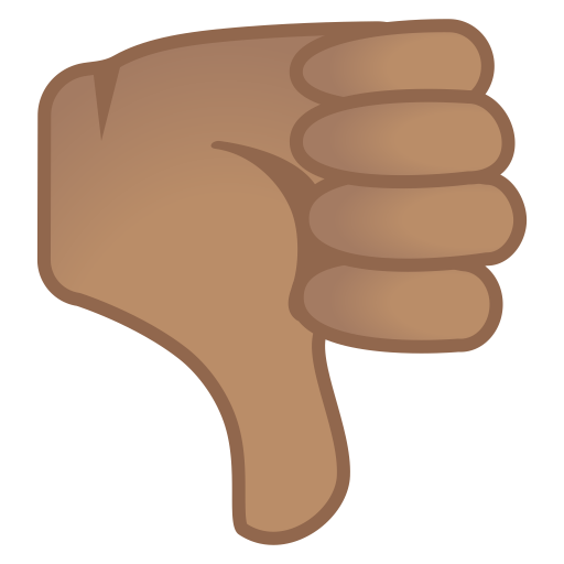 12017-thumbs-down-medium-skin-tone icon