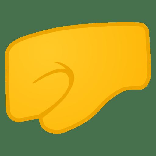 12032-left-facing-fist icon