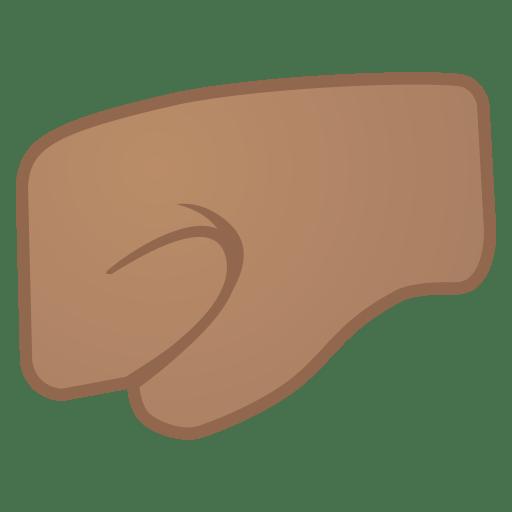 12035-left-facing-fist-medium-skin-tone icon