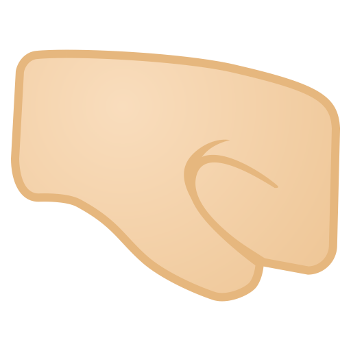 12039-right-facing-fist-light-skin-tone icon