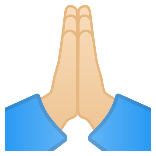 12094-folded-hands-light-skin-tone icon