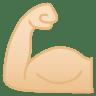 11904-flexed-biceps-light-skin-tone icon