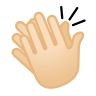 12070-clapping-hands-light-skin-tone icon