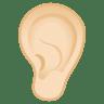 12107-ear-light-skin-tone icon