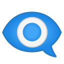 Eye in speech bubble icon