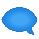 Left speech bubble icon