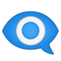 Eye in speech bubble icon