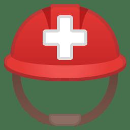 Rescue workers helmet icon