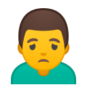 Man frowning icon