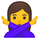 Woman gesturing NO icon