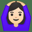 Woman gesturing OK light skin tone icon