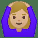Woman gesturing OK medium light skin tone icon