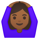 Woman gesturing OK medium dark skin tone icon