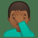 Man facepalming medium dark skin tone icon