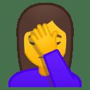 Woman facepalming icon