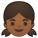 Girl medium dark skin tone icon