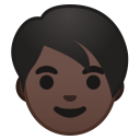 Adult dark skin tone icon