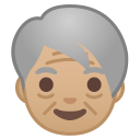 Older adult medium light skin tone icon