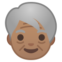 Older adult medium skin tone icon