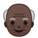 Old man dark skin tone icon