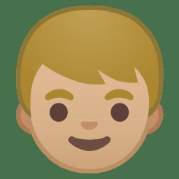 Boy medium light skin tone icon