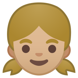 Girl medium light skin tone icon