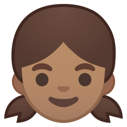 Girl medium skin tone icon