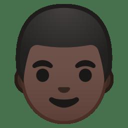 Man dark skin tone icon