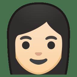Woman light skin tone icon