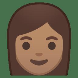 Woman medium skin tone icon