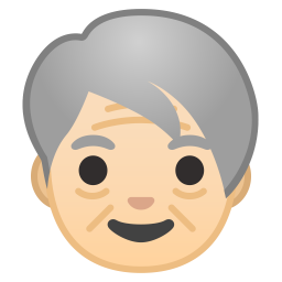 Older adult light skin tone icon