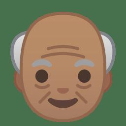Old man medium skin tone icon