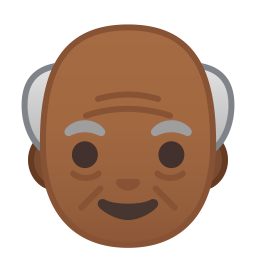 Old man medium dark skin tone icon