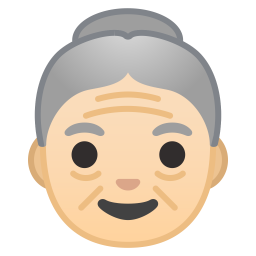 Old woman light skin tone icon