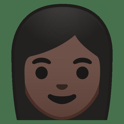 Woman dark skin tone icon