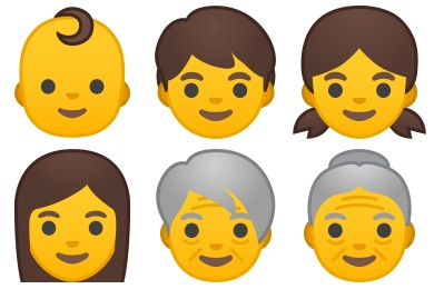 Noto Emoji People Faces Icons