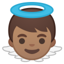 Baby angel medium skin tone icon
