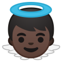 Baby angel dark skin tone icon