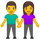 Man and woman holding hands icon