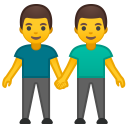 Two men holding hands icon