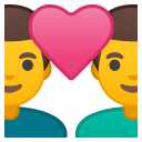 Couple with heart man man icon