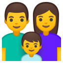 Family man woman boy icon