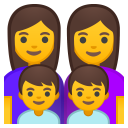 Family woman woman boy boy icon