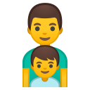 Family man boy icon